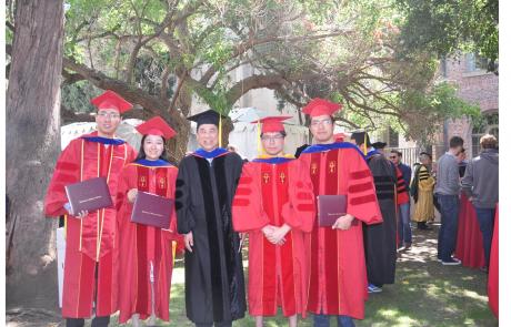 Congratulations to Yuzhuo Ren, Chi-Hao Wu, Qin Huang and Weihao Gan in Attending the PhD Hooding Ceremony