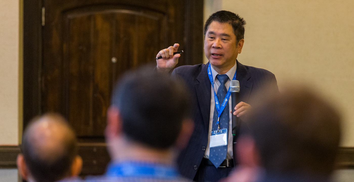 Keynote speaker at the UTRGV hosted 1st International Conference on Data Intelligence and Security, Dr. Jay Kuo from the University of Southern California spoke on the topic: Why and Why Not Convolutional Neural Networks.  UTRGV Photo by David Pike